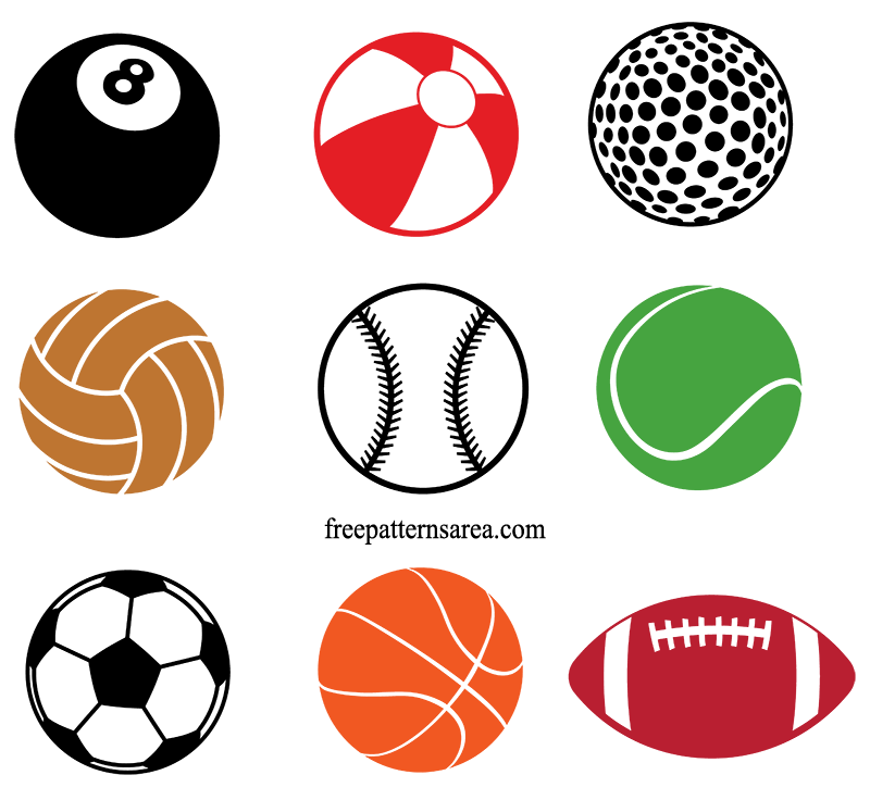 Sports Ball Free Svg Designs Cutting Files