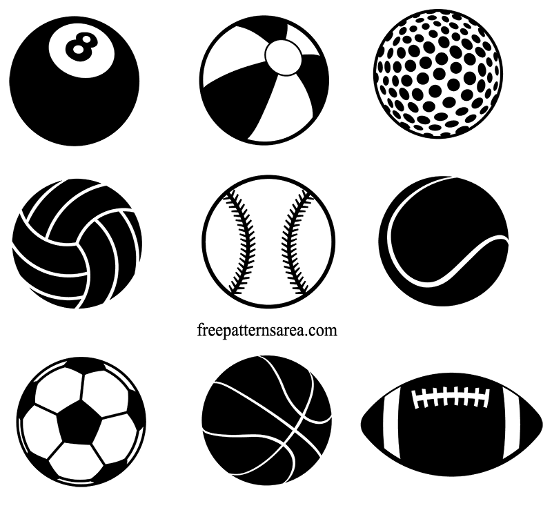 Sports Ball Free Vector Cliparts Sticker Template File