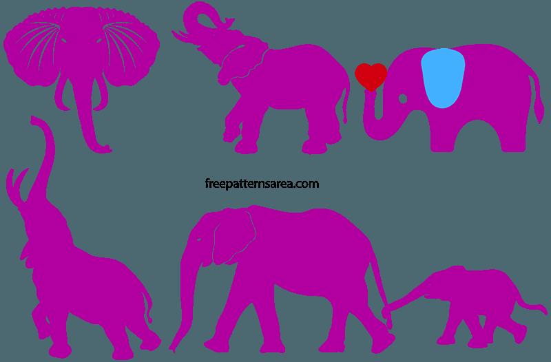 Elephant Silhouette Svg Free Cut File