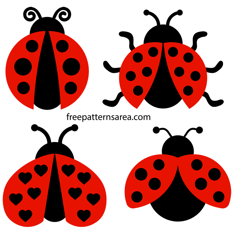 printable ladybug clipart vectors free svg files freepatternsarea rh freepatternsarea com Free Vector Art Downloads Free Vector Graphics Clip Art