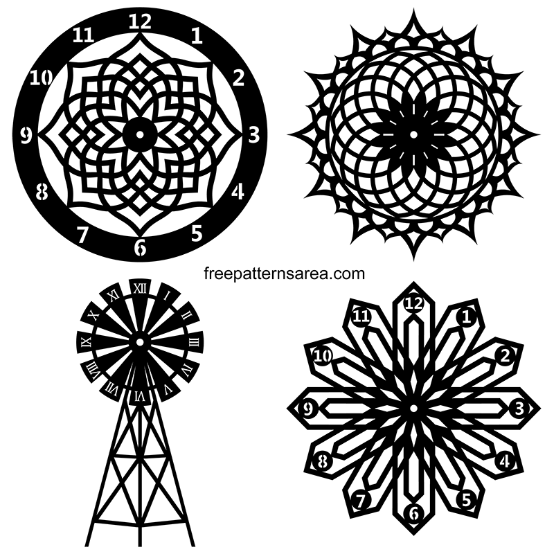 Laser Cut Wall Clock Dxf Vector File