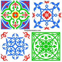 Square Tile Art Ornament Svg Image Files
