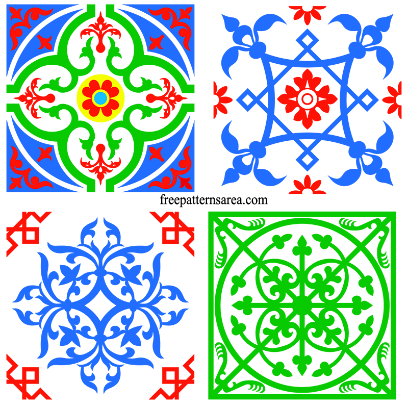 Square Tile Art Ornament Svg Image Files