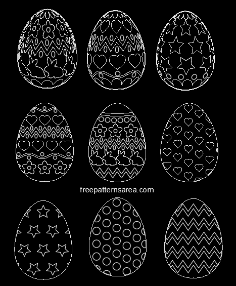 Easter Eggs Autocad Dxf Dwg Files