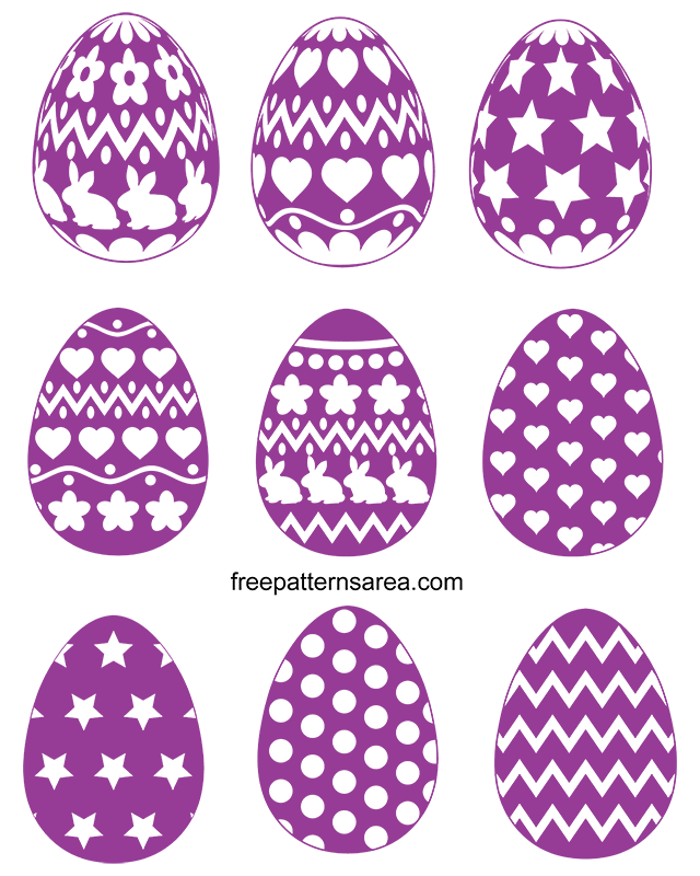 Free Easter Eggs Silhouette Svg Files