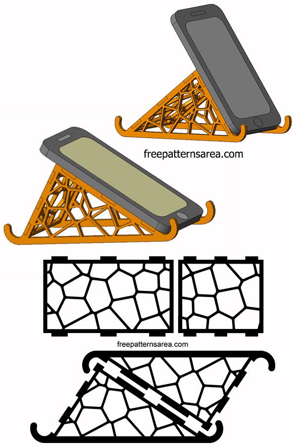 Laser Cut Cell Phone Stand Holder Design