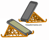 Laser Cut Cell Phone Stand Things
