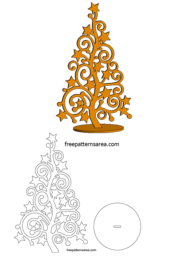 Printable Xmas Tree Outline Template