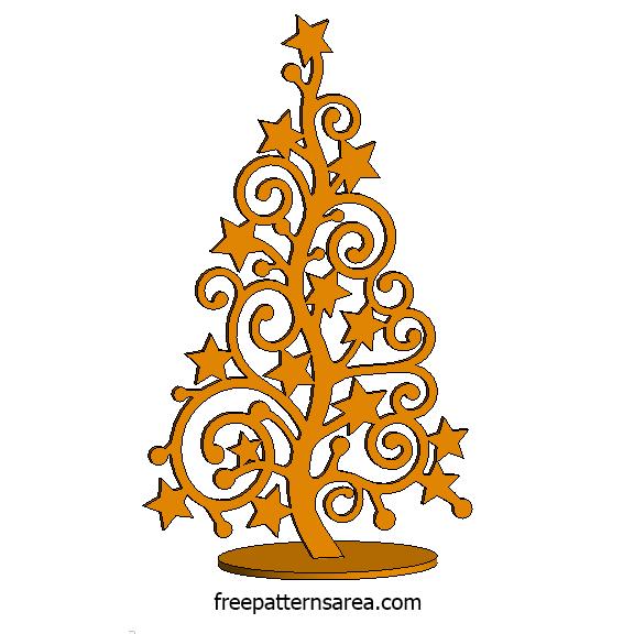 Laser Cut Wood Christmas Tree Idea