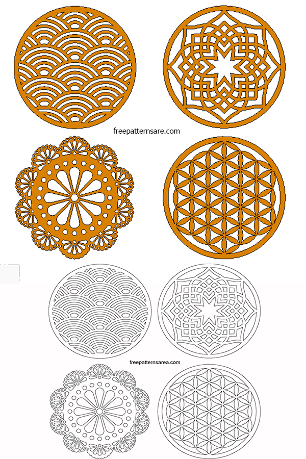 Laser Cut Wood Coaster Ideas Template