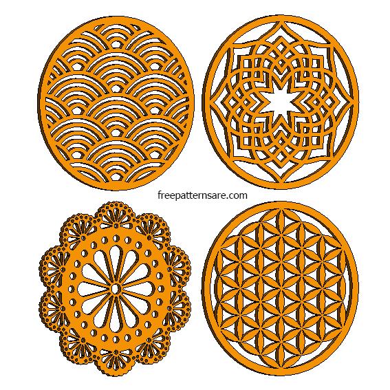 Laser Cut Wooden Coaster Designs