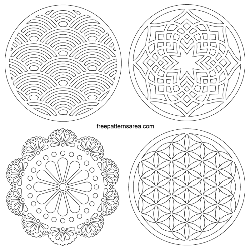 photo about Printable Coasters known as Laser Reduce Vector Circle Coaster-Ornamet Free of charge DXF Programs