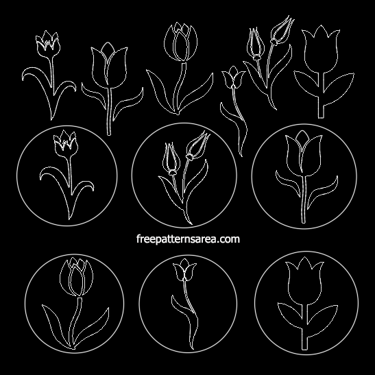 Tulip Autocad Dwg Dxf Cad Files