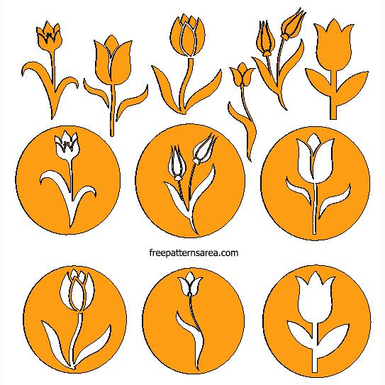 Tulip Flower Laser Cut
