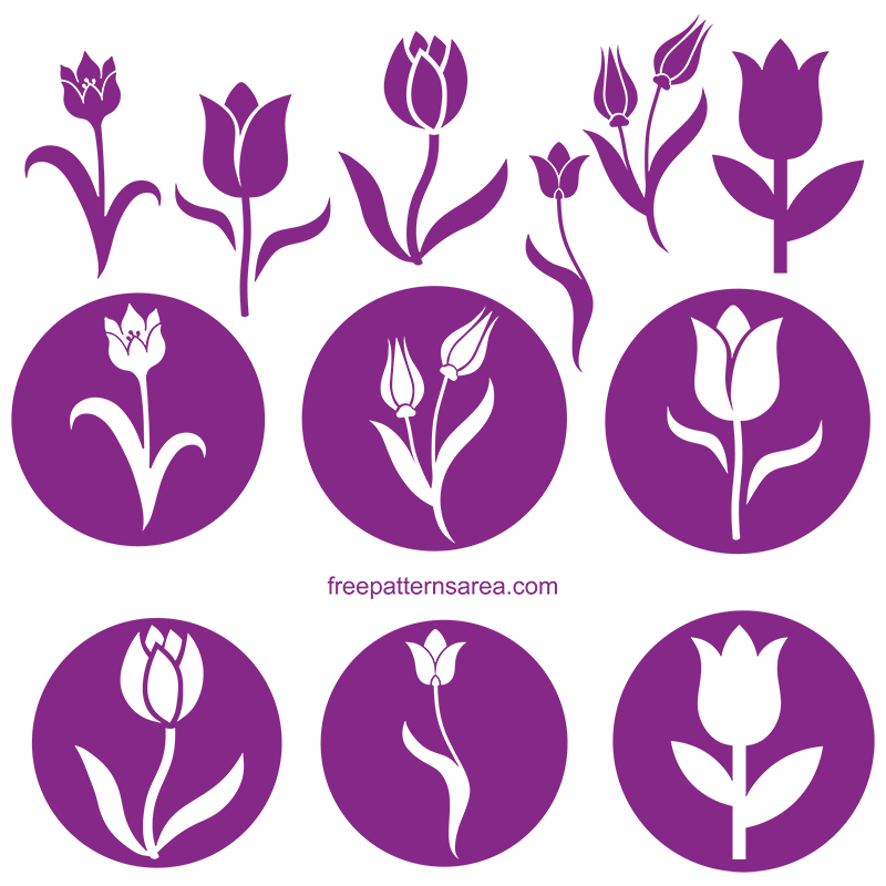Tulip Silhouette Svg Cut Files
