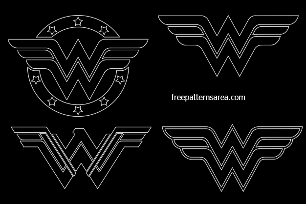 Wonder Woman Autocad Dxf Dwg Drawing