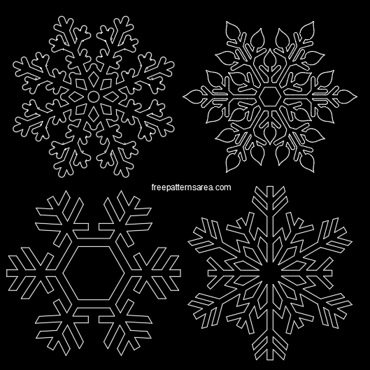 Autocad Snowflakes Dwg