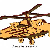 Laser Cut 3d Model Helicopter Plan Files