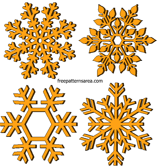 Laser Cut Wood Snowflake