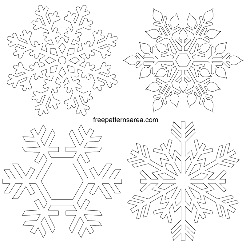 Printable Snowflakes Snowflake Cut Out Pdf Pattern