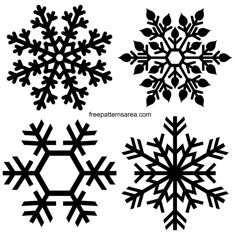 Snowflakes Free Transparent Clipart Vector Pattern
