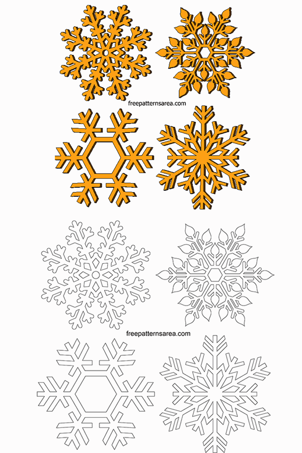 Wood Snowflakes Scroll Saw Pattern