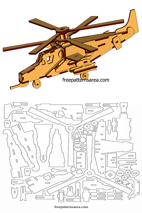 Wooden Model Helicopter 3d Laser Cutter Project Plans