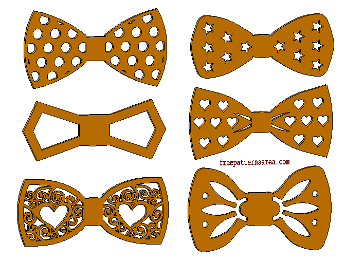 Bow Tie Laser Cut Shapes