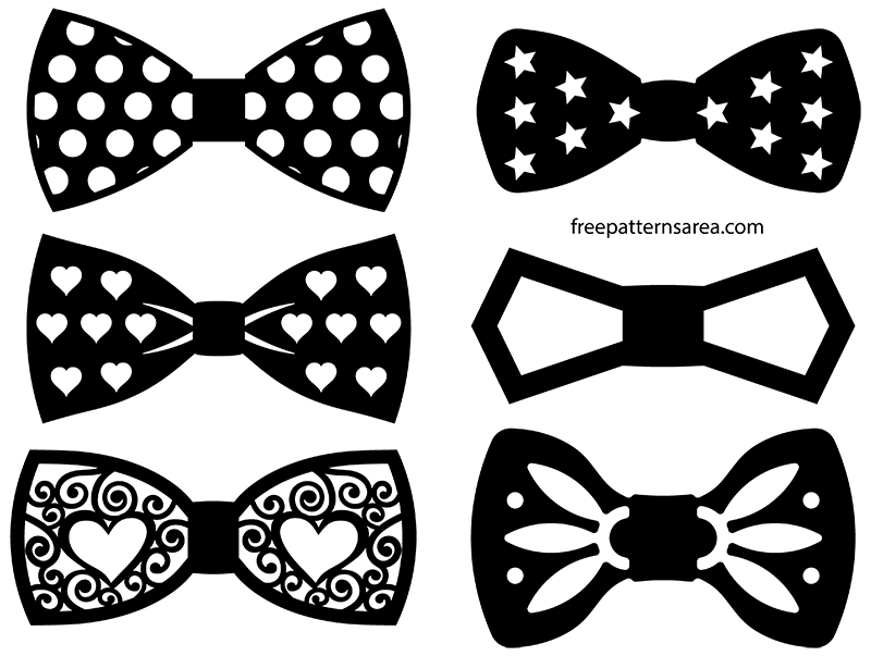 Bow Tie Silhouette Vectors