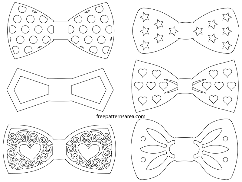 graphic about Bow Tie Printable named Bow Tie Silhouette Vectors and Determine Templates