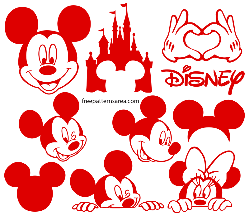 Cricut Disney Mickey Mouse Svg Silhouette