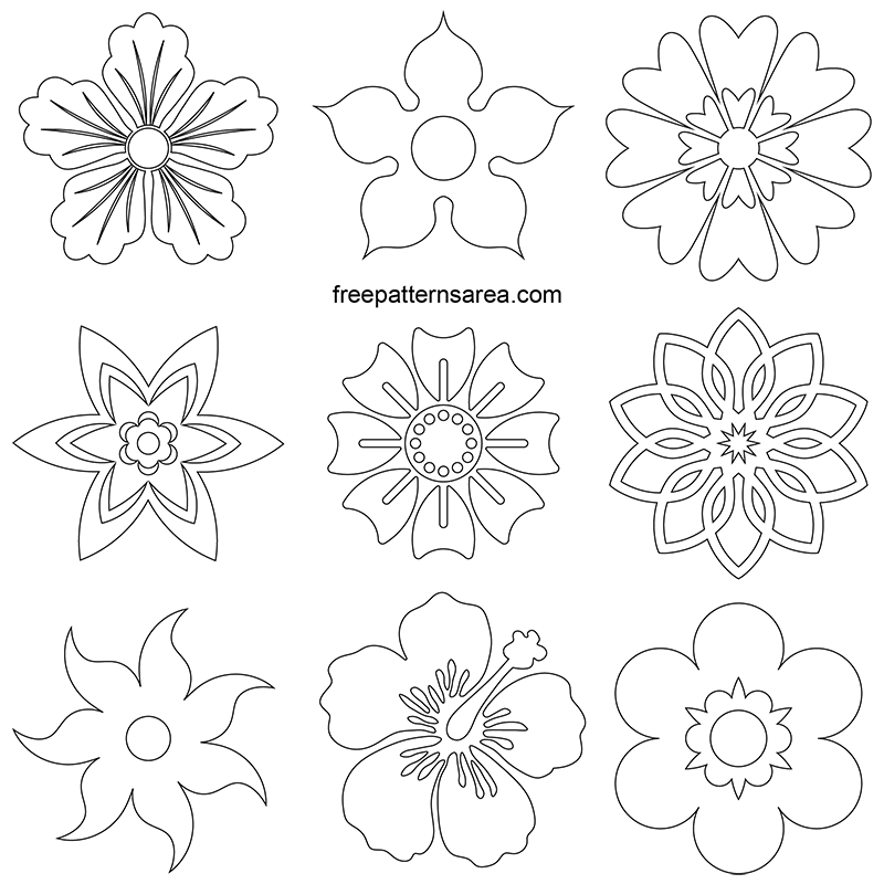 photograph about Flower Outline Printable identify Free of charge Flower Vectors Printable Designs History Obtain