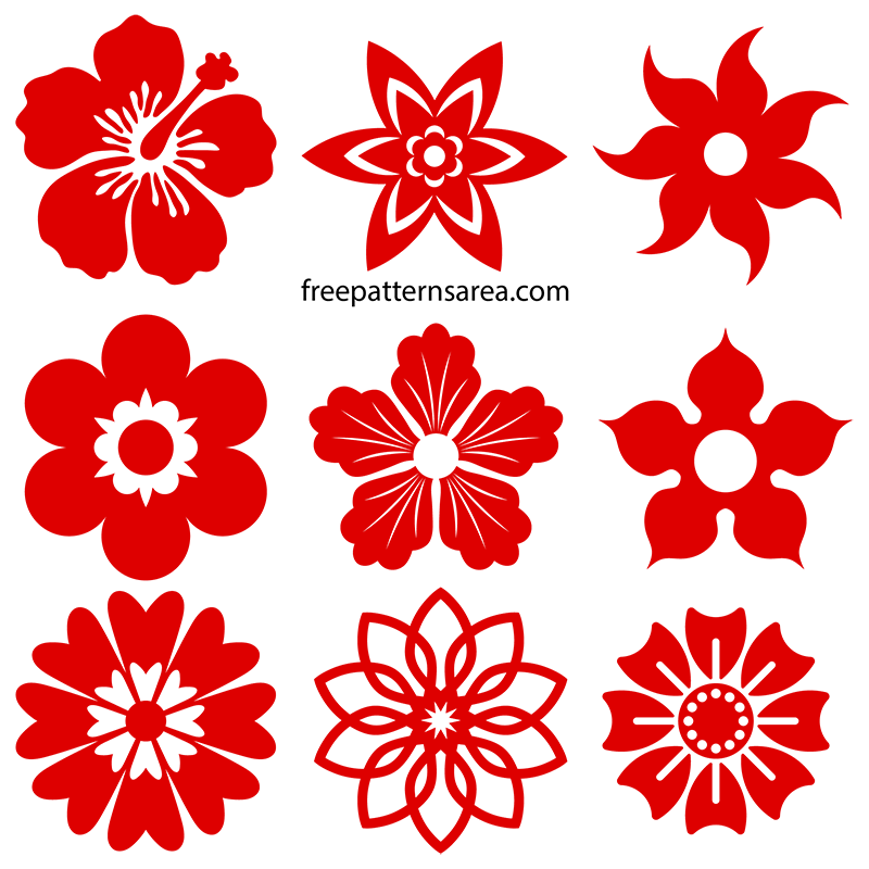 Flowers Silhouette Svg Graphics Cut Files