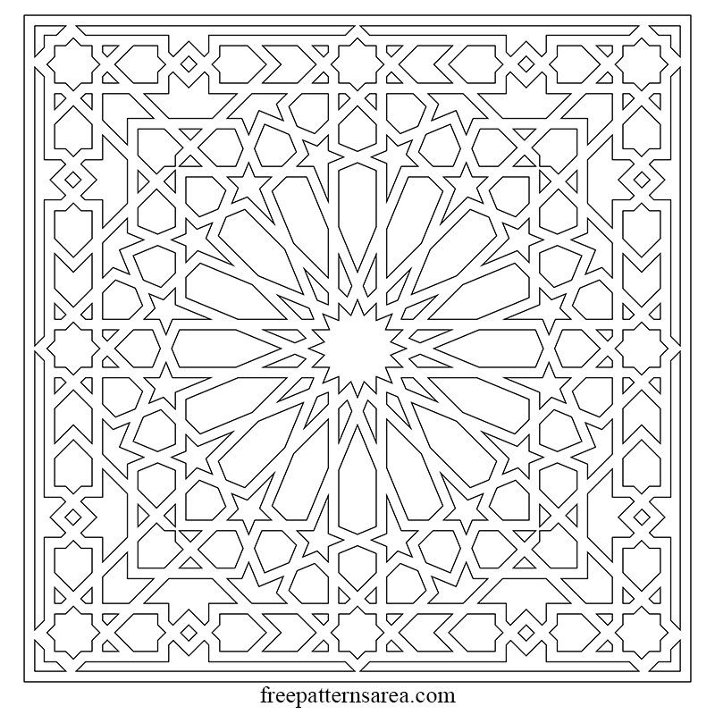 Free Islamic Arabic Geometric Art Pattern