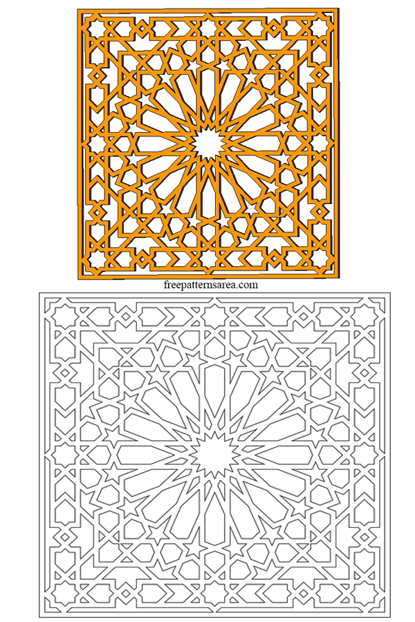 Geometric İslamic Ornament Template