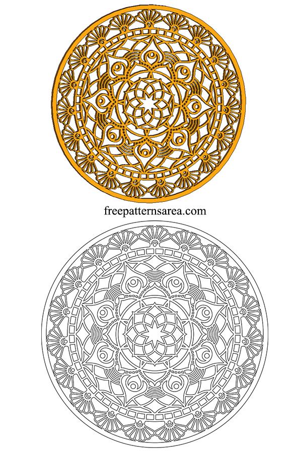 İndian Wood Mandala Sheets Pdf Template