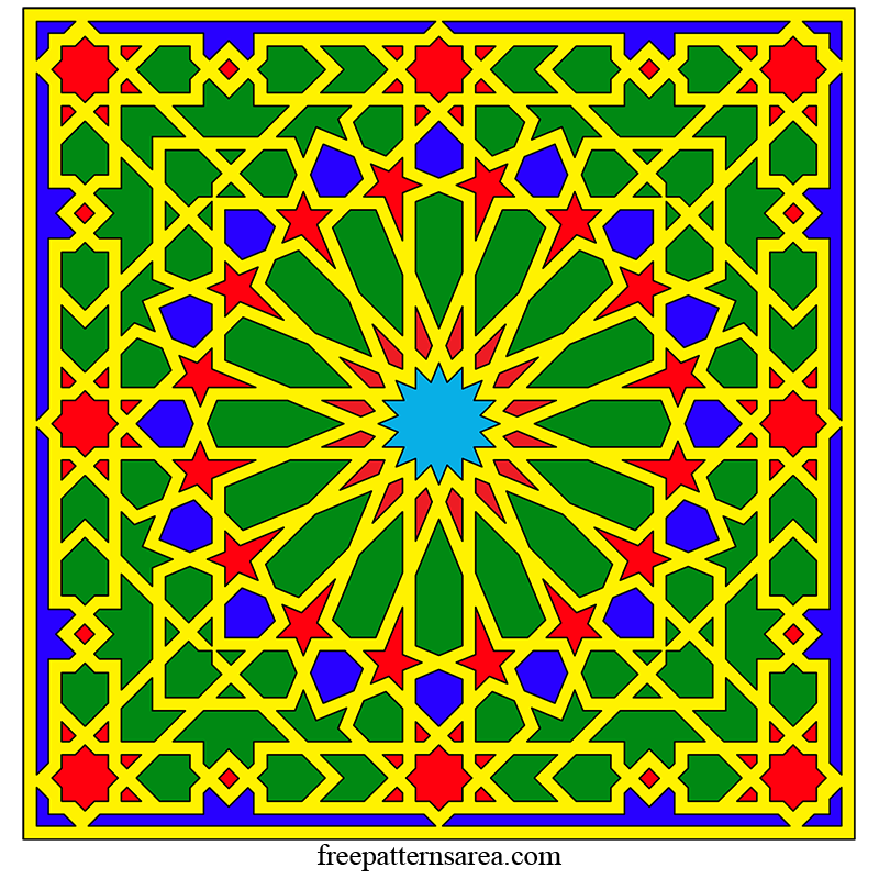 Islamic Arabesque Geometric Art Vector Image