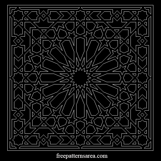 Islamic Geometric 2d Autocad Dwg Dxf Cad Pattern