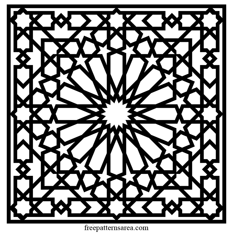 Islamic Geometric Design Vector