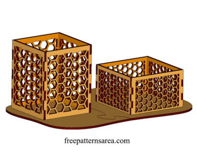 Pen And Paper Cube Holder Laser Cut Object