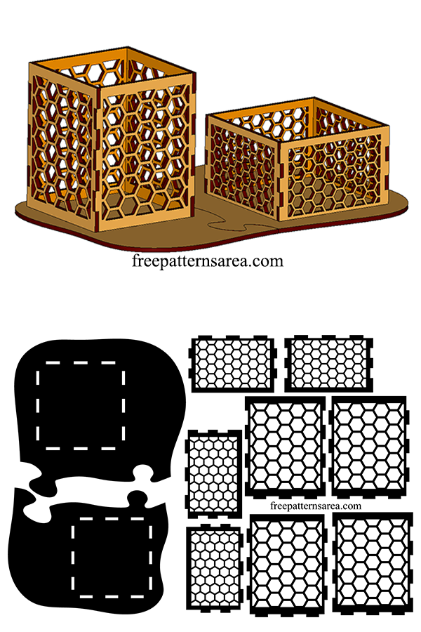 Pen And Paper Cube Holder Laser Cutter Idea
