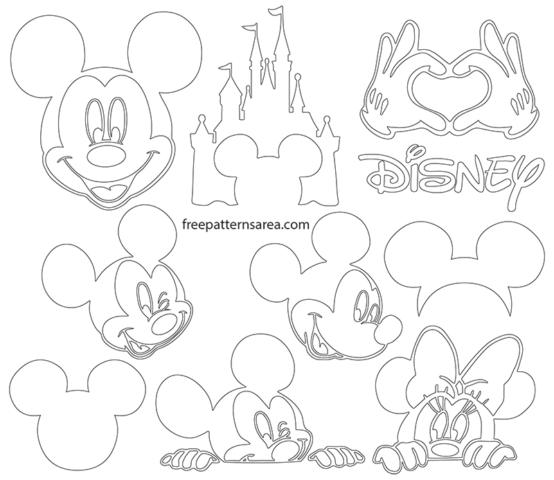 image relating to Mickey Mouse Silhouette Printable known as Mickey Mouse Silhouette Vector Pics FreePatternsArea