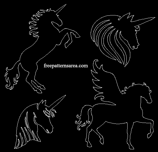 Unicorn Autocad Dwg Cad File