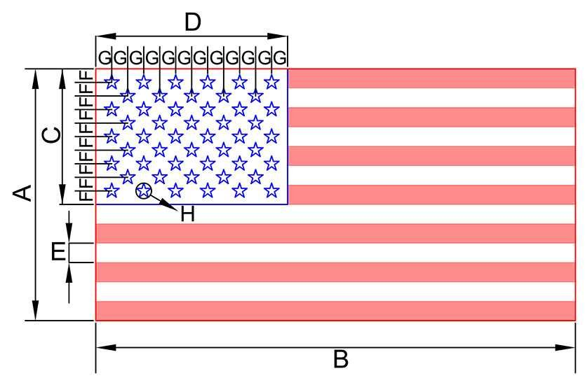American Flag Dimensions Sizes