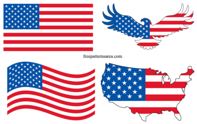 American Usa Flag Vector Png Svg Eps Files