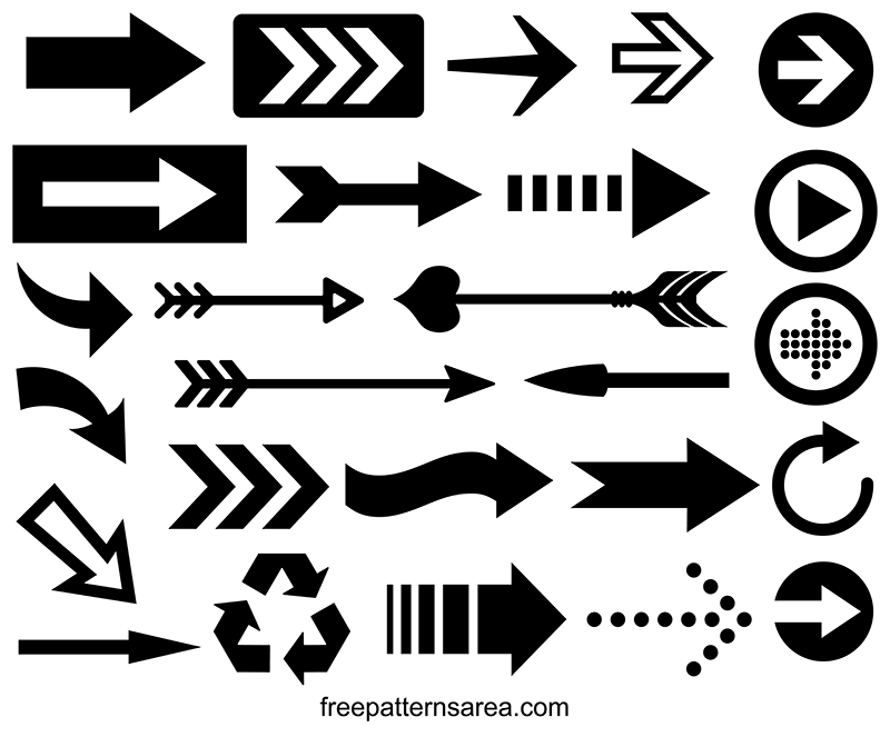 image about Printable Arrow named Arrow Vector Photos and Printable Templates FreePatternsArea