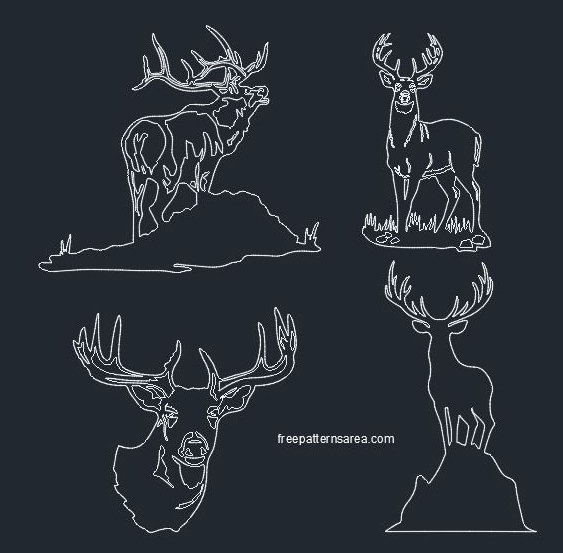 Deer Dwg Autocad 2d Cad Files