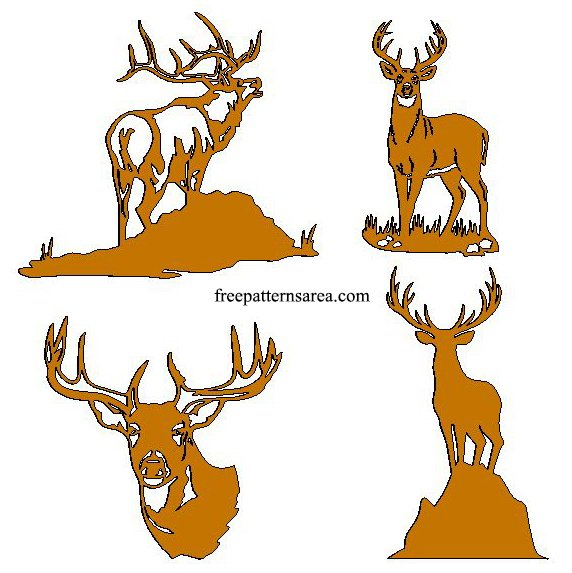 Deer Dxf Files for Cnc Plasma Cutter
