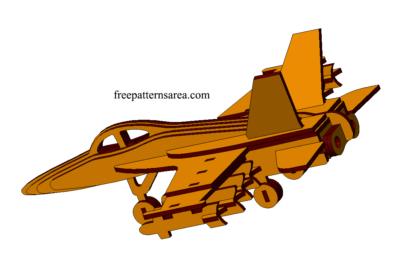 Laser Cut War Plane Model Puzzle