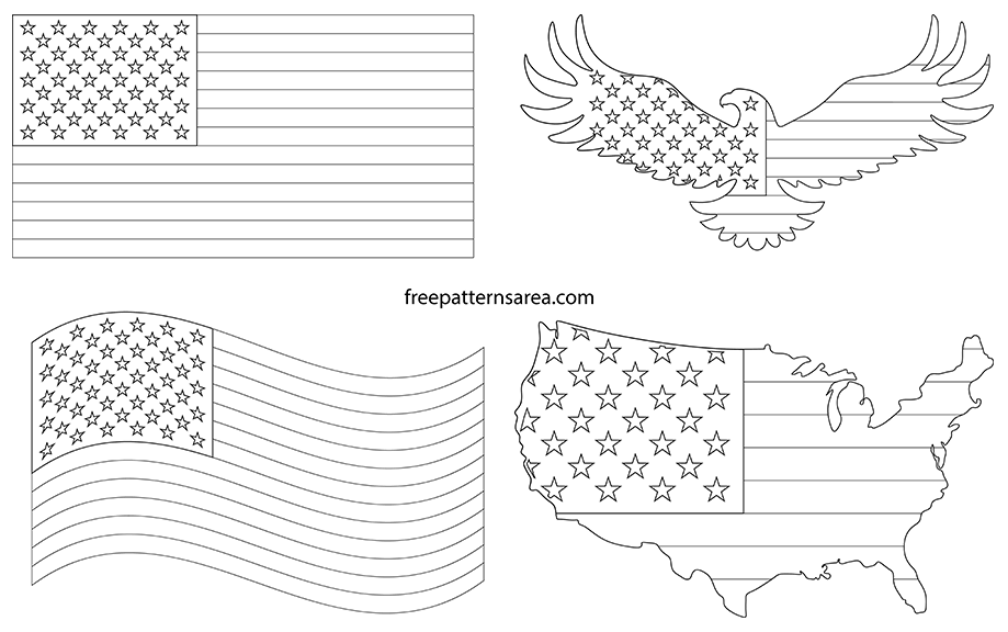 Printable American Flag Pdf Template